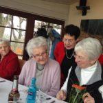 """Gemeinsames Mittagessen aus Anlass des 80. Geburtstages von Frau Masseli am 21.02.2019 im Restaurant """"Am Pfingstberg"""" Frau Luhn, Frau Krück, Frau Lowack, Frau Frase"""